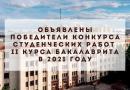 Арина Дедова и Екатерина Стародубцева стали победителями конкурса курсовых работ 2 курса бакалавриата